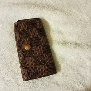 Standard Brown Demier Louis Vuitton Key Case
